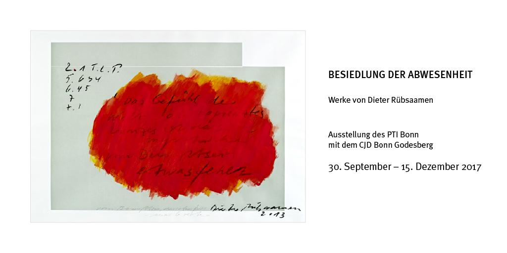 Ausstellung Besiedlung der Abwesenheit – Dieter Rübsaamen